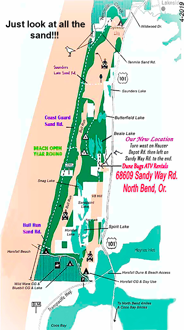Coos Bay sand map